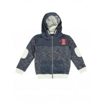 140538 Sport cardigan sweater blue + grey (12 pcs)