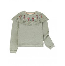 140563 Humanature teen girls sweatshirt grey melange + outer space (12 pcs)