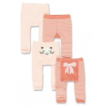 140623 Dark Wonder baby girls legging (2-pack) rosette + peony (8 pcs)