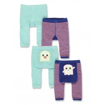 140626 Worldhood baby girls legging (2-pack) sodalite blue + grey melange (8 pcs)