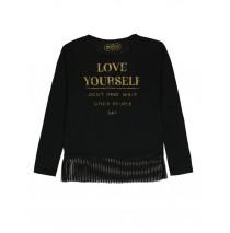 140665 Dark Wonder ladies t-shirt  black + marshmallow (18 pcs)