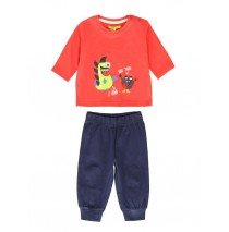 140696 Dark Wonder baby boys set:shirt+jogging pant american red+snorkel blue (8 pcs)