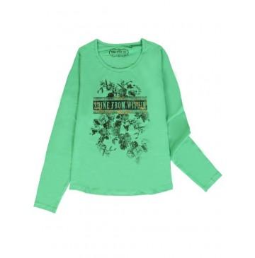 140730 Humanature ladies t-shirt green bay + grey melange (18 pcs)
