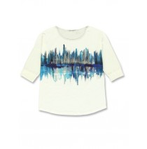 140734 Worldhood  ladies t-shirt marshmallow + atlantic deep (18 pcs)