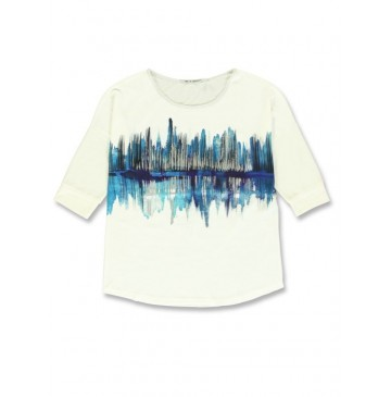 140734 Worldhood  ladies t-shirt marshmallow + atlantic deep (18 pcs)