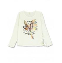 140738 Humanature ladies t-shirt marshmallow+grey melange+green bay (24 pcs)