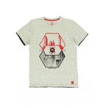 140776 Worldhood mens t-shirt light grey + dark grey (18 pcs)