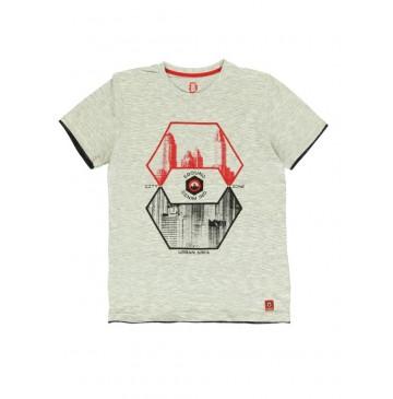 140776 Worldhood mens t-shirt light grey + dark grey (18 pcs)