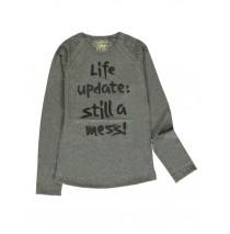 140789 Dark Wonder teen girls t-shirt dk grey melange + black (12 pcs)