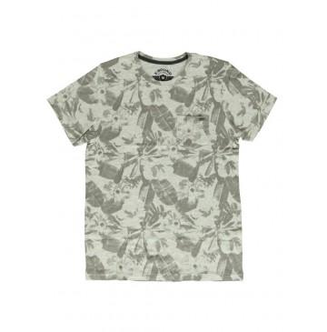 140790 Humanature mens t-shirt grey melange + zinfandel (18 pcs)