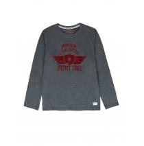 140801 Humanature mens t-shirt grey + dark blue (18 pcs)