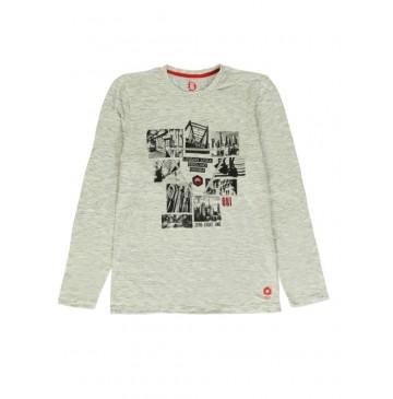140803 Worldhood mens t-shirt light grey + dark grey (18 pcs)