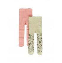 140821 Humanature baby girls socks (2-pack) beige melange + rosette (12 pcs)