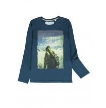 140827 Humanature teen boys t-shirt blue wing teal + ruby wine (12 pcs)
