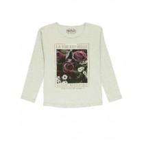 140838 Thinker ladies t-shirt lt grey melange+pearl+marshmallow (24 pcs)