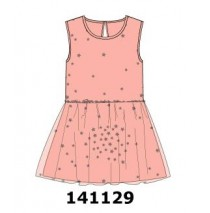 141129 Dark Wonder small girls dress peony (10 pcs)