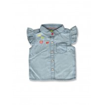 141316 Common ground baby girls blouse light blue (8 pcs)