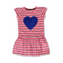 141347 Creative manifesto small girls dress pink lemonade+cool blue (12 pcs)