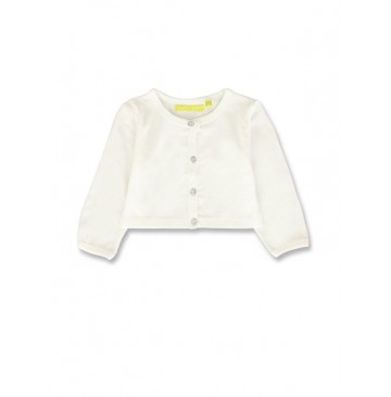 141385 Common ground baby girls cardigan optical white+pink (8 pcs)