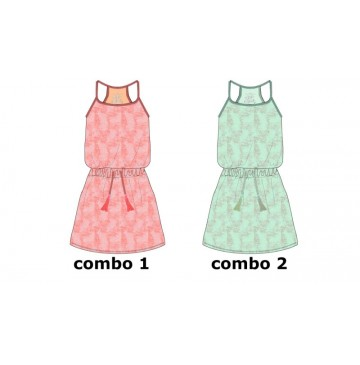 Common ground teen girls dress soothing sea (6 pcs)
