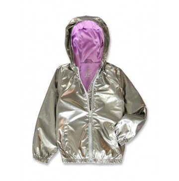 In touch small girls jacket silver (10 pcs)