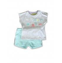 141509 In touch baby girls set gray melange+fairy tale (8 pcs)