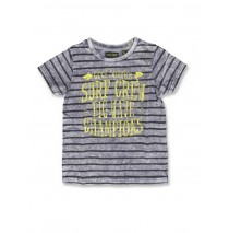 141577 Common ground small boys shirt blue+cool blue stripes (12 pcs)