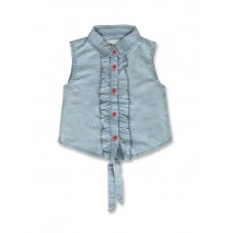 141609 Creative manifesto small girls blouse light blue (10 pcs)