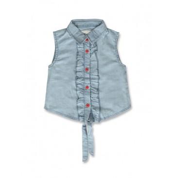 141609 Creative manifesto small girls blouse light blue (10 pcs)