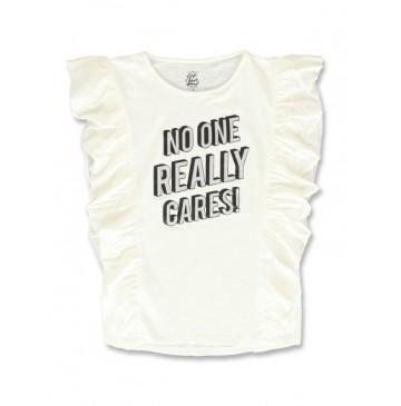 141703 Creative manifesto girls shirt marshmallow+flash red (12 pcs)