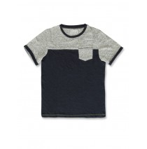 141707 Common ground teen boys shirt blue melange+grey melange (12 pcs)
