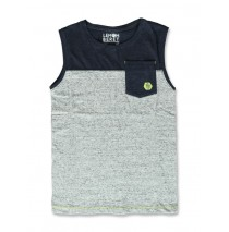 141708 Common ground teen boys singlet grey+surf the web (12 pcs)