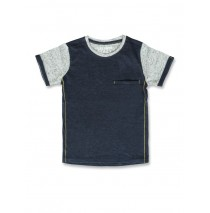 141711 Common ground small boys shirt blue melange+grey melange (12 pcs)