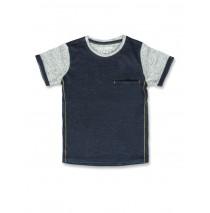 141711 Common ground small boys shirt blue melange+grey melange (12 pcs)