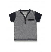 141712 Common ground small boys shirt blue melange+grey melange (12 pcs)