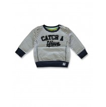 141713 In touch baby boys sweatshirt optical white+medieval blue (8 pcs)