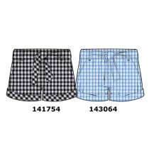 143064 In touch teen girls short light blue checks (10 pcs)