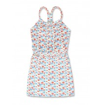 141836 In touch small girls dress optical white+cool blue (12 pcs)