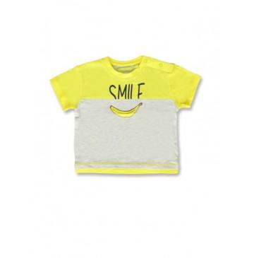 141846 Creative manifesto baby boys shirt blazing yellow+alaskan blue (8 pcs)