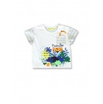 141856 Creative manifesto baby boys shirt optical white+light grey (8 pcs)