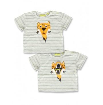 141857 Creative manifesto baby boys shirt light grey+optical white (8 pcs)