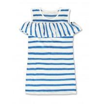 141873 Creative manifesto small girls dress blue aster+pink (12 pcs)