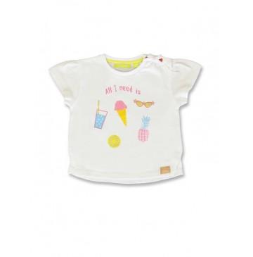 141876 Creative manifesto baby girls shirt optical white+soothing sea (8 pcs)