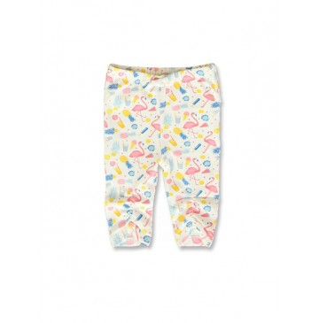 141879 Creative manifesto baby girls legging optical white+light grey (8 pcs)