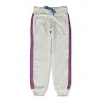 141939 Creative manifesto small girls jogging pant light grey melange+pink  (12 pcs)