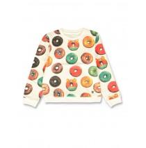 142004 Creative manifesto small girls sweatshirt marshmallow+pale peach (12 pcs)