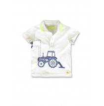 142016 Common ground baby boys poloshirt light grey+medieval blue (8 pcs)