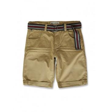 142148 Common ground teen boys bermuda + belt camel (10 pcs)