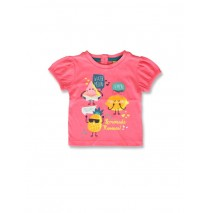142160 Creative manifesto baby girls shirt pink lemonade+light grey (8 pcs)