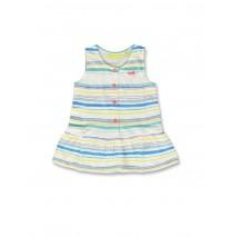 142170 Creative manifesto baby girls dress optical white+cool blue (8 pcs)